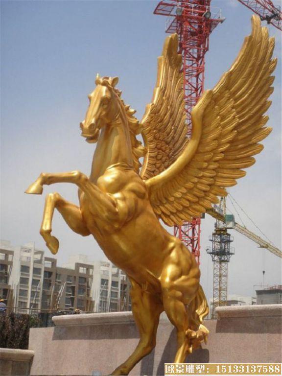 玻璃钢飞马雕塑